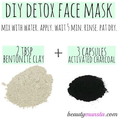 How To Use Activated Charcoal To Detox by What You Need To Make Your Own Detox Mask Use Weekly