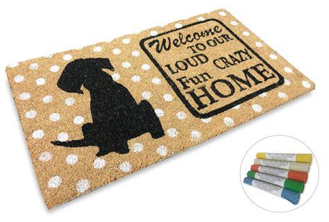 zerbino welcome zerbino in fibra di cocco disegnato con scritte e