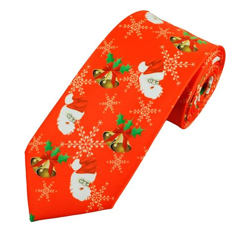 santa claus snowflakes holly bells red novelty
