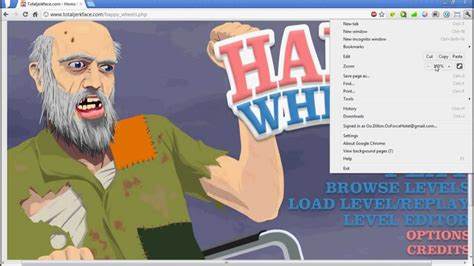 black and gold happy wheels total jerkface happy