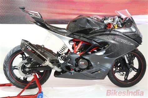 tvs motocross bikes tvs unveils akula 310 concept racer at auto expo 16