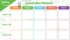 free kids lunch box ideas planner to make you more organised