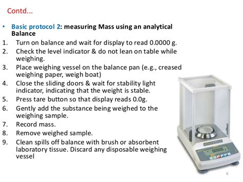 analytical balance diagram preparing diluting of solutions of different strengths