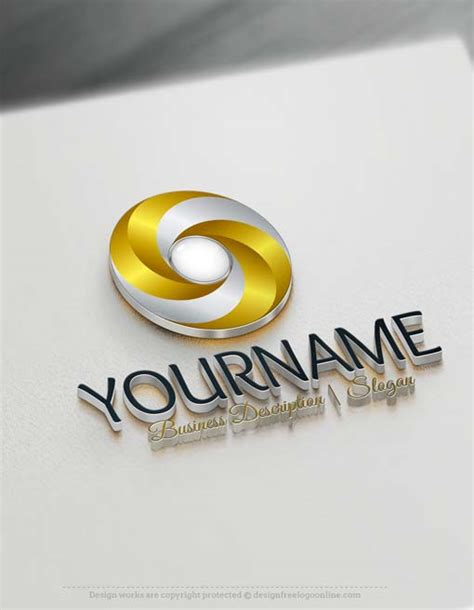 free 3d logo templates free logo maker 3d spiral logo design