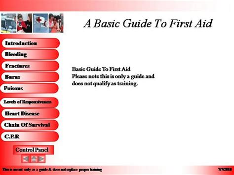 A Basic Guide To First Aid Authorstream Aid Powerpoint Slides