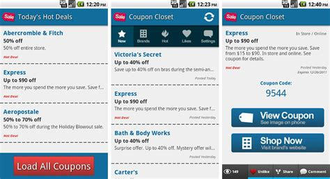 coupon apps for android best fashion and style apps for android android authority