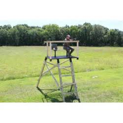 Deer Blind Platform Sportsman S Condo Side By Side Deer Stand Platform