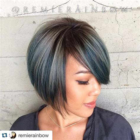 black hair color with a line cut 2015 22 most popular a line bob hairstyles pretty designs