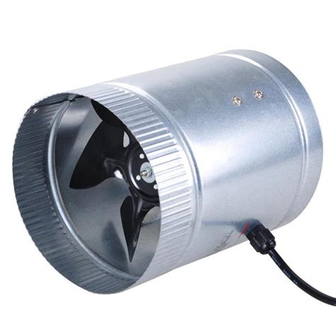 400 cfm exhaust fan 6 quot 400 cfm inline duct booster vent fan blower aluminum