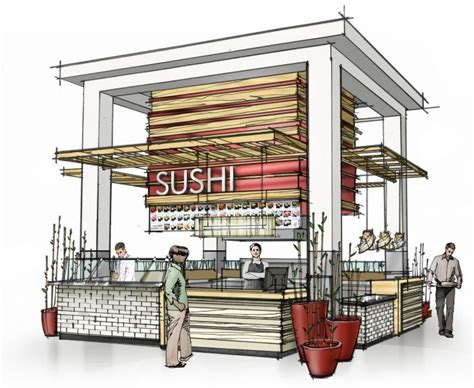food court design dwg color sketches by jonathan knodell at coroflot com