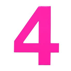 Patio Home Decor by Shop Houseart 6 In Pink House Number 4 At Lowes Com