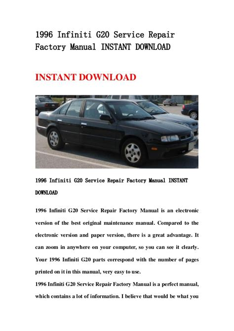 free download parts manuals 1993 infiniti g user handbook infiniti g20 2001 service manual how to and user guide instructions