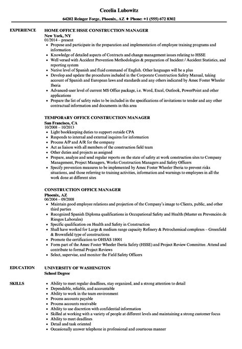 sle resume office manager construction company resume confidential information talktomartyb
