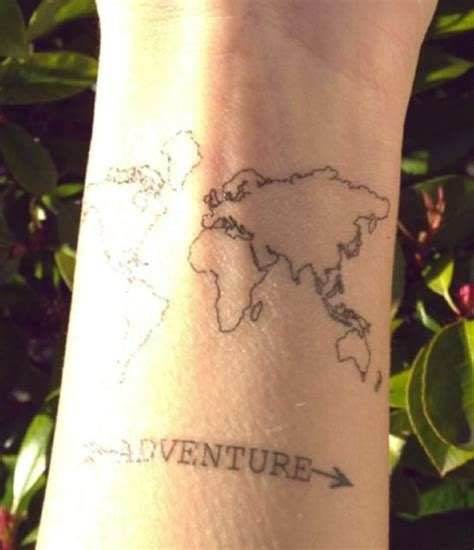 world map wrist tattoo 50 adventurous travel tattoos ideas amazing ideas