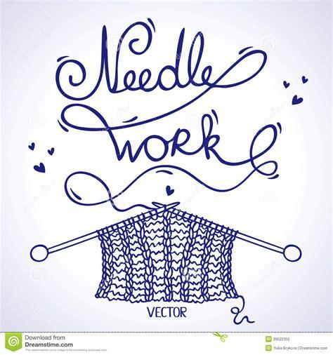 knitting words needlework knitting stock vector illustration of knitting