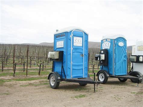 portable bathroom trailer single double unit portable restroom trailers cci rentals