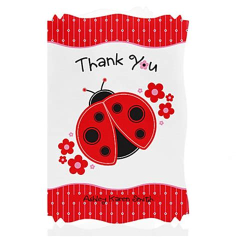 Ladybug Baby Shower Thank You Cards by Modern Ladybug Personalized Baby Shower Thank You Cards Babyshowerstuff