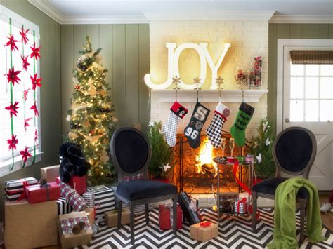 indoor christmas decorating ideas home hgtv s holiday house hgtv design blog design happens