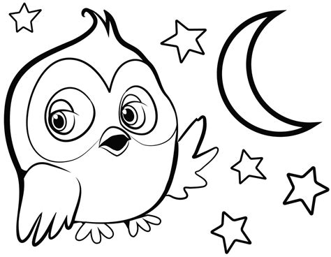 owl printables for kindergarten easy owl coloring coloring pages