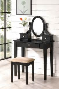 Makeup Vanity Table Black Beautiful Bobkona Collection Vanity Makeup Table Stool