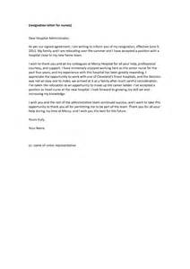 How To Write A Resignation Letter For Nurses by Best Photos Of Resignation Letter Sle For Nurses Sle Nursing Resignation Letter Nurses