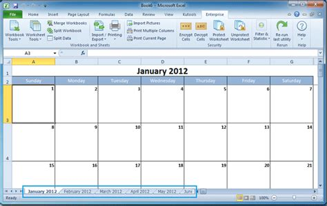 how to make a calendar with excel how to create a calendar in excel