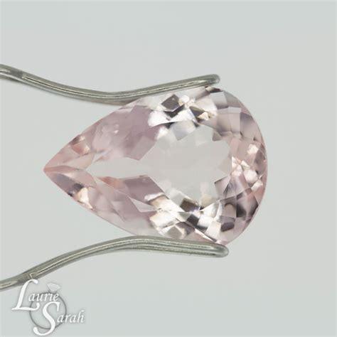 light pink sapphire loose stone peachy pink morganite gemstone loose light pink morganite gem