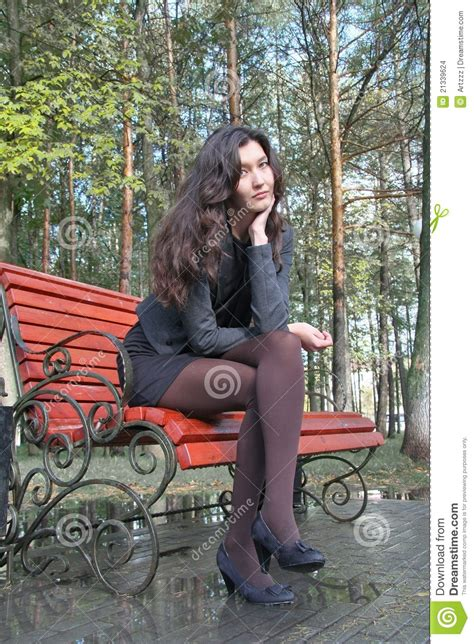 bench girl girl on a bench stock images image 21339624
