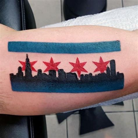 chicago ink tattoo 50 chicago flag designs for illinois ink