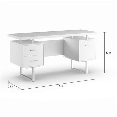 strick bolton joffe white metal office desk white