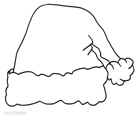 Santa Hat Coloring Pages printable santa hat coloring pages for cool2bkids