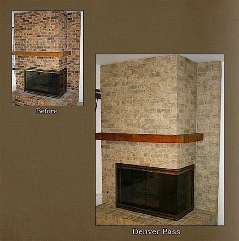 how to resurface a fireplace chicago fireplace brick refinishing project modern