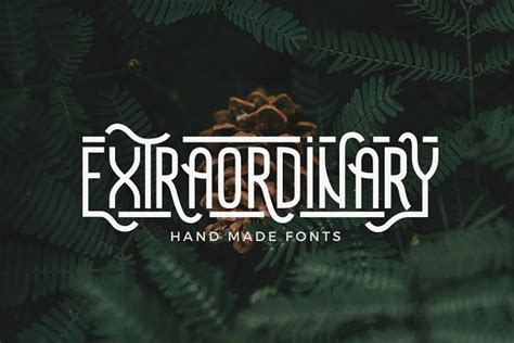 Best Handmade Fonts - extraordinary handmade font kreativ graphic