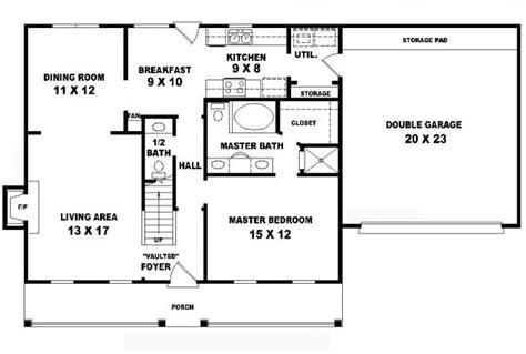 5 bedroom 3 1 2 bath floor plans 653697 country style 1 5 story 3 bedroom 2 5 bath