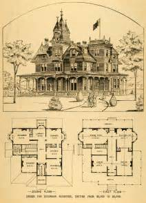 vintage floor plans 1879 print victorian house architectural design floor
