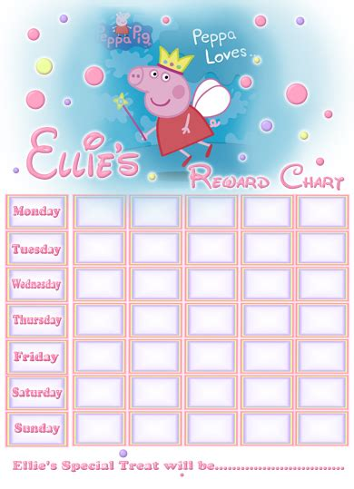 picture of the peppa pig reward chart download the free 5 best images of potty training reward chart fillable