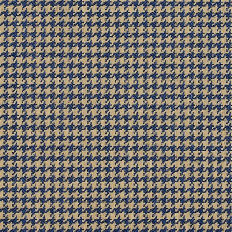 upholstery fabric maine e855 blue and beige classic houndstooth jacquard