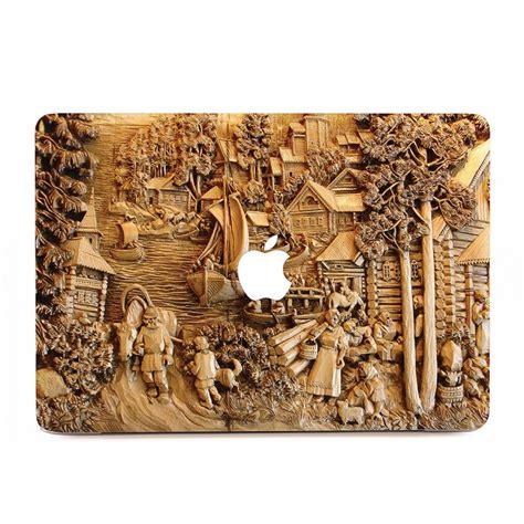 Sticker Von Holz Entfernen by Geschnitzt Holz Kunst Macbook Skin Aufkleber