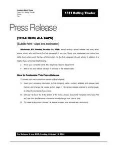 word press release template rolling thunder press release template