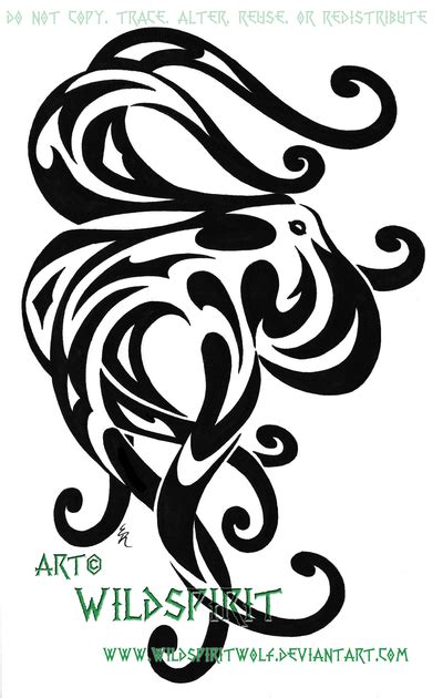 octopus tribal tattoo tribal octopus by wildspiritwolf on deviantart