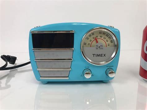 timex retro alarm clock radio t247l