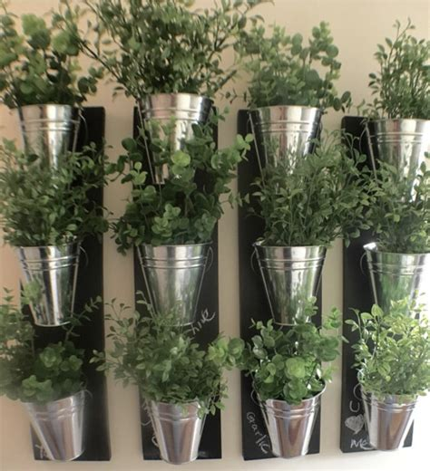 Vertical Indoor Wall Planter With Galvanized Steel Pots Indoor Planter Pots