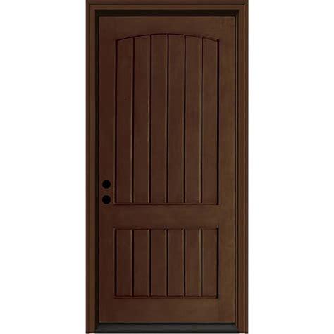 Jeld Wen Exterior Fiberglass Doors Shop Jeld Wen 2 Panel Insulating Right Inswing Caramel Fiberglass Stained