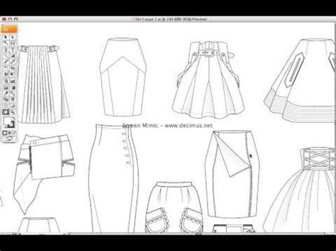 fashion templates skirt illustrator fashion templates