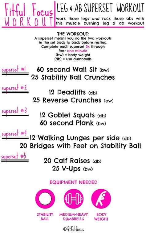 leg ab superset workout fitful focus