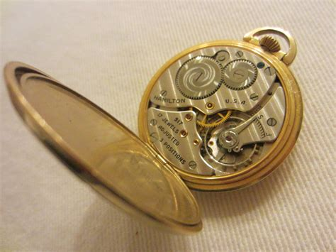 hamilton wadsworth pocket gold filled 17 jewels for