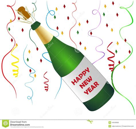 clipart brindisi happy new year chagne stock illustration illustration