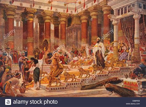 Bible Wall Murals the visit the queen sheba to king solomon by english