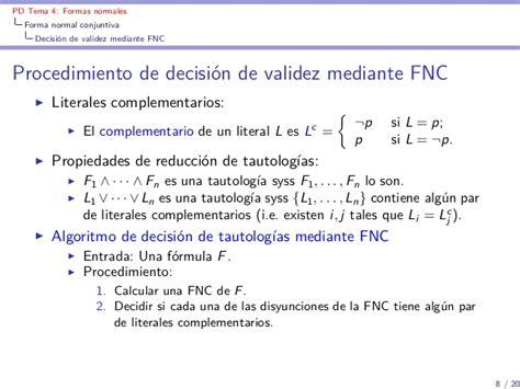 tema 4 procedimiento para calcular el calibre de los lit4 formales normales conjuntivas y disyuntivas