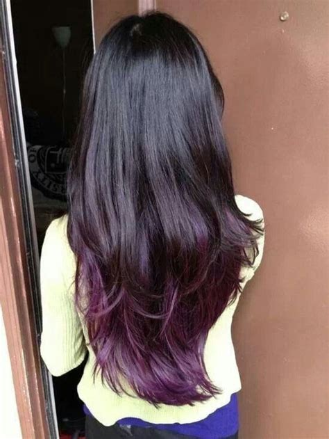 pictures of hair medium hair styles dark underneath dark hair with purple underneath hair pinterest dark
